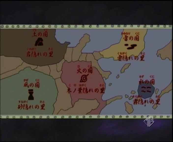 Cartina Mondo Naruto.Geografia Di Naruto Narutogt It