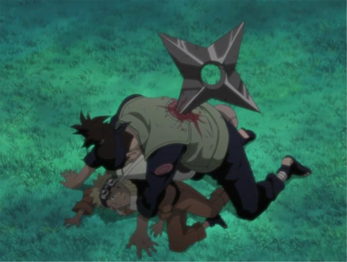 Risultati immagini per iruka saves Naruto