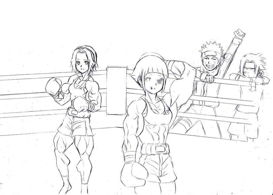 Scena Irreale 2 Sakura e Hinata si picchiano per Naruto c8fcd2b3bd5